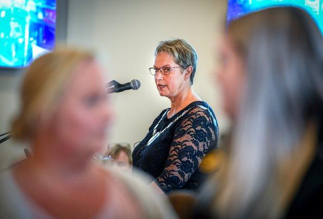 Rektor Hanne Solheim Hansen. Her fra studieåpning på Nesna. Arkivfoto.