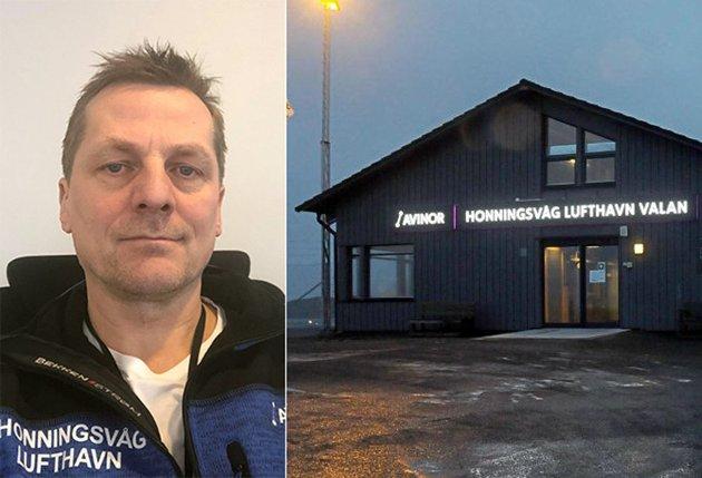 Ronny Andersen, lufthavnsjef ved Honningsvåg lufthavn Valan.