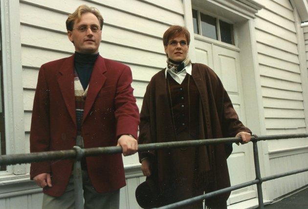 Frå Firdaposten sitt mote-bilag i september 1993. Arne Sunnarvik og Ester Frøyen
