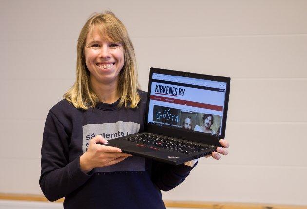 GLEDER SEG: Ansvarlig redaktør Anniken Renslo Sandvik gleder seg til å kunne gi et bedre digtalt, redaksjonelt tilbud til leserne i Sør-Varanger.