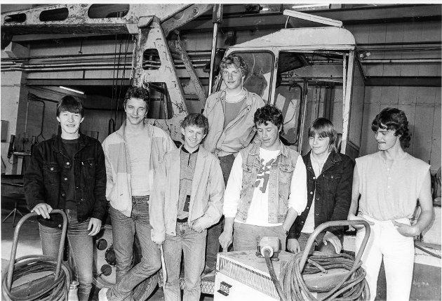 Disse sju tok sveise-sertifikat for oljeindustri. 25. juni 1985.