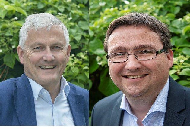 Vidar Kjesbu, leder i Levanger Venstre og Karl M. Buchholdt, kommunestyrerepresentant for Levanger Venstre.