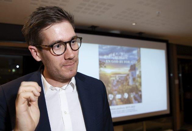 Svarer: Miljøbyråd Thor Haakon Bakke (MDG) mener antall parkeringsplasser må minimeres når det er mulig. foto: Arne Ristesund