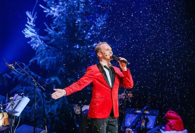 FØRSTE KLASSE: Erik-André Hvidstens juleshow i Blå Grotte torsdag kveld var tilnærmet makeløst.