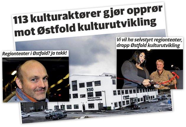 Uenige: Kulturpolitiker Andreas Lervik ønsker nytt region-teater i regi av Østfold kulturutvikling. 113 kulturaktører er imot.