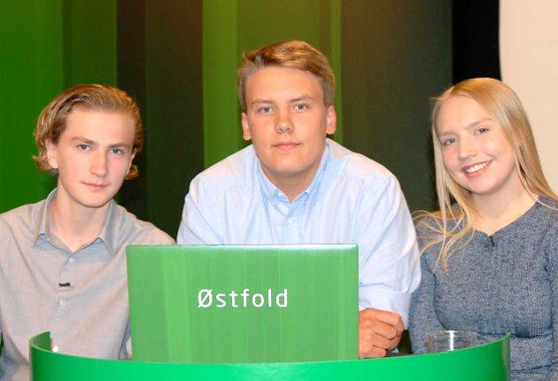 Gratulerer! Halvor Linder Henriksen (t.v), Thomas Elton Gundersen og Silje Kristin Bunes fra Gressvik ungdomsskole.