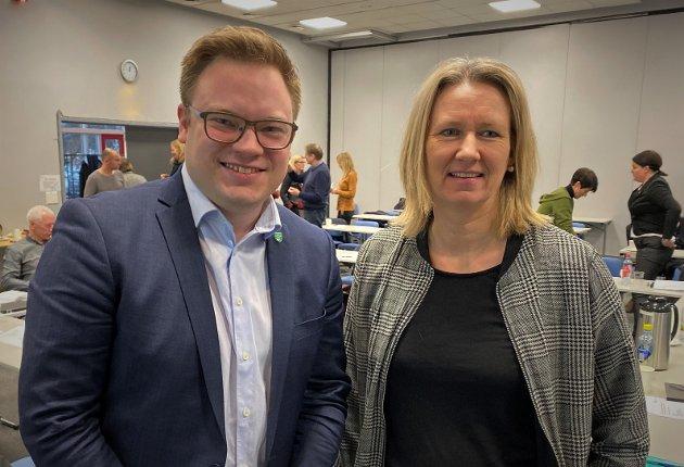 Even Aleksander Hagen, fylkesordfører i Innlandet og Merethe Myhre Moen, leder i KS Innlandet