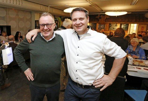 GJEST: leder Bjørn Hermansen (til venstre) og resten av klubben satte stor pris på å få besøk av Johannes Leitz fra Leitz Rheingau.