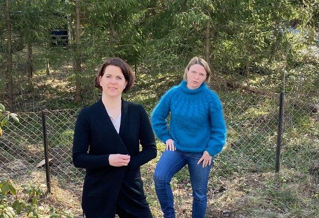 ENGASJERTE: Camilla Hille, gruppeleder for Venstre i Nordre Follo og Solveig Schytz, Stortingsrepresentant for Venstre, Ås.