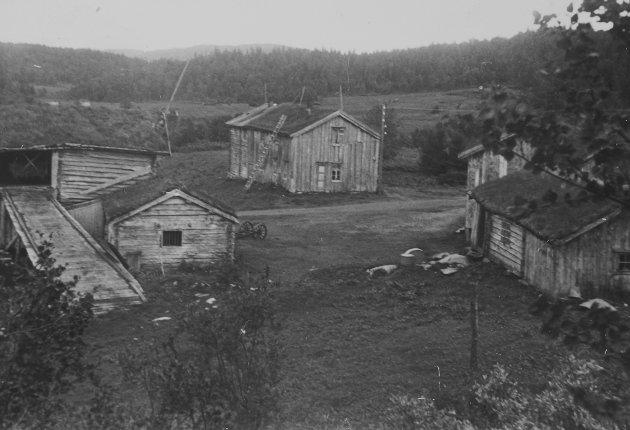 Gårder rundt Røssvatnet og Tustervatnet som ble  berørt av vasskraftutbygginga. Statkraft. 1952-3.Sjåvik, Hattfjelldal