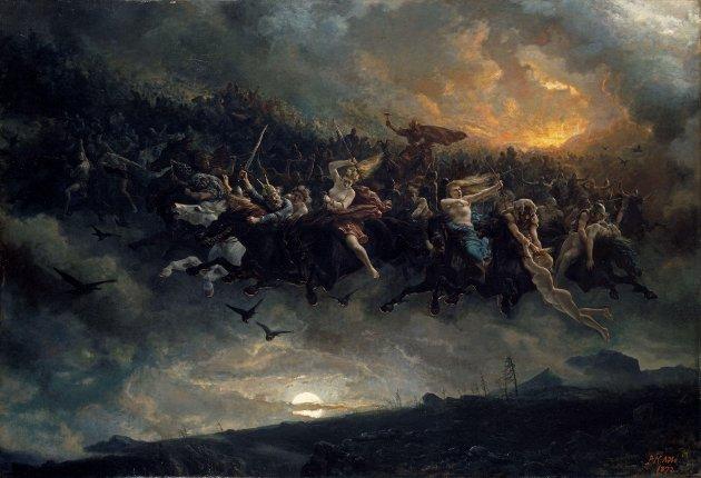«»Åsgårdsreien» av Peter Nicolai Arbo, 1872.