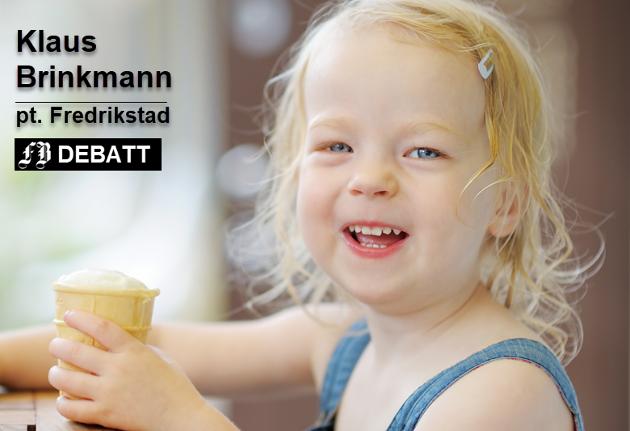 – Hun spiste isen. Lite visste hun at farfar syntes at hennes fremtid blant medmenneskene hadde blitt lyst opp et aldri så lite stykke! Illustrasjonsfoto: Mostphotos
