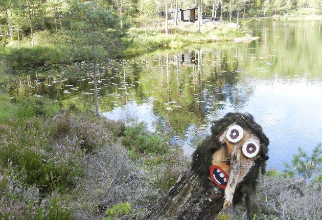 IDYLL: Trollstien langs vannet ved Ormtjern er noe for seg selv.