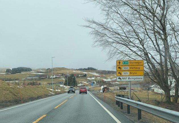 Bue blir et knutepunkt på ny E39. Mellom Bue og Årrestad valgte regjeringen den korridoren som er kortest og har minst stigning.