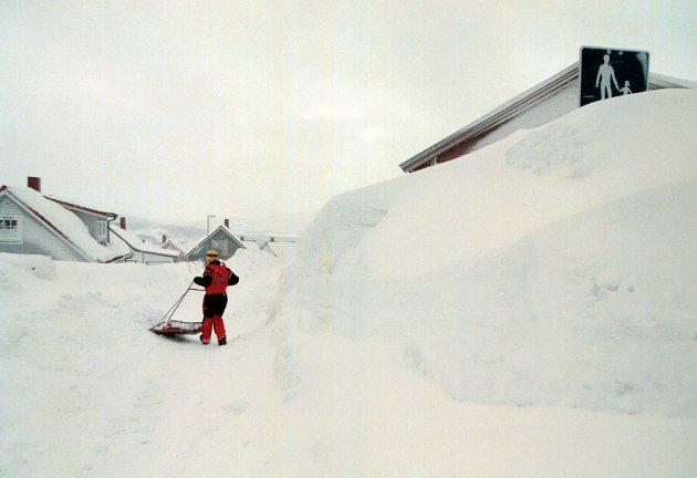 Alle naboene i borettslaget får utdelt snøfresere for å måke snø, mens én stakkar blir nødt til å ta den samme måkejobben med en snøskuffe.Den stakkaren er Norge, skriver Terje Halleland (Frp). Illustrasjonsfoto.