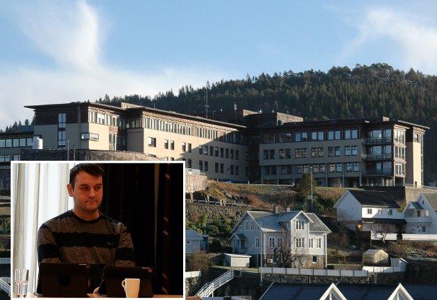 VIL MANE TIL KAMP: Ahmed Lindov er urolig for at det kan komme nye kamper om funksjonene på Flekkefjord sykehus. Det er en kamp han eventuelt mener det i stor grad er viktig å ta – og har et samlet politisk landskap i Kvinesdal som deler synet.