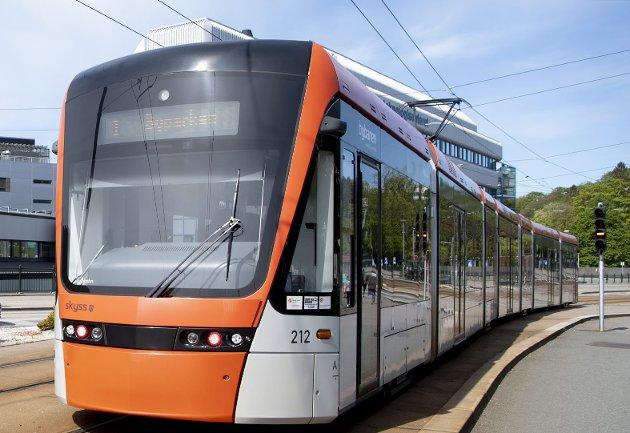 Bybanen planlegges å gå til Åsane.                                  Foto : ARNE RISTESUND