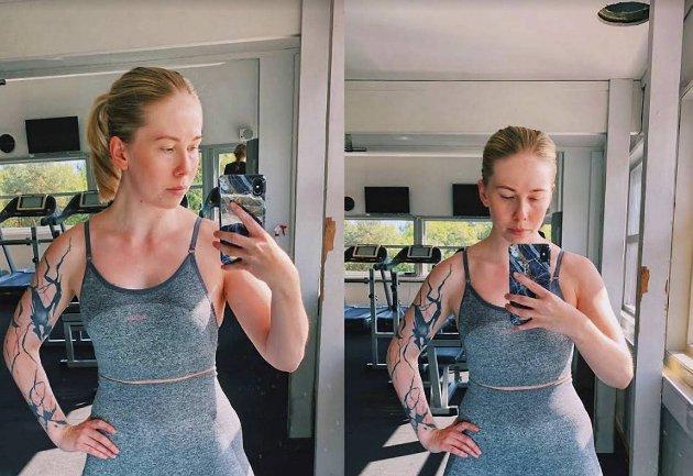 – Ingen skal måtte skamme seg om litt av magen kommer til syne når man trener, skriver Ragnhild Yndestad.