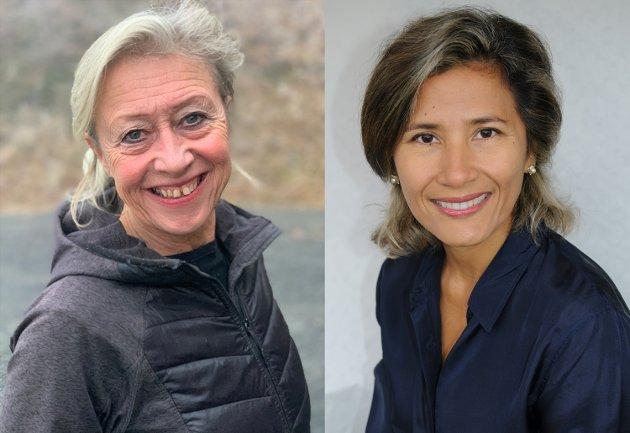 Hege Birketvedt Eklund, kreftkoordinator i Valdres og Ruby Del Risco Kollerud, forsker ved Nasjonal kompetansetjeneste for arbeidsrettet rehabilitering