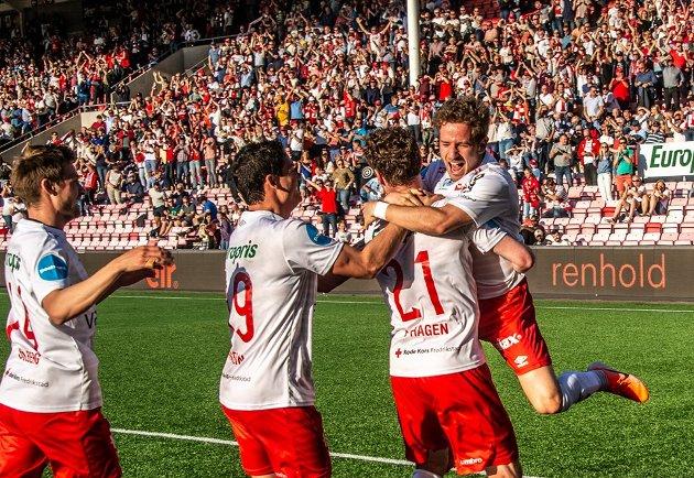 Pølsevev: Erik Johansen håper å se lignende jubelscener når FFK tar i mot Egersund søndag.