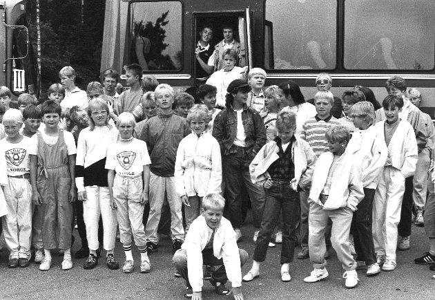 Våler skolemusikkorps juni 1985.