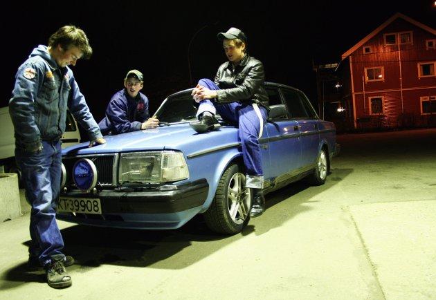Andreas Ruud, Fredrik Vaaler og Thomas Staadahl fra Mysen. Bildet er tatt i 2007.