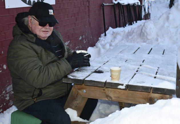 Minnes: Leif Gunnar Halvorsen ved sitt faste bord ved Bonzo.