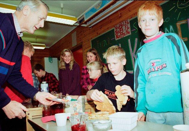 Året er 1995 og bildene stammer fra et arrangement på Fiane skole.