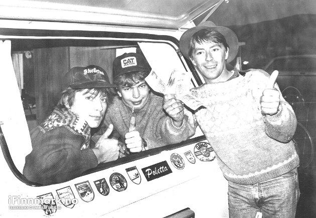 UTELIV OG FEST: Countryfestival på Brennelvneset. Joar, Dan og Knut Hanssen. 07.08.1989.