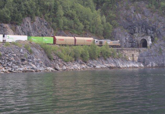CargoNETs godstog på tur mellom Fauske og Rognan passerer et lite tilgjengelig område.