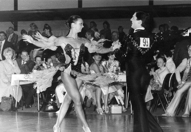 Danseren Geir Bakke fra Askim sammen med makkeren Trine Dehli.