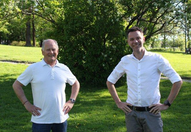 Pål Syse og Truls Vasvik, stortingskandidater Vestfold valgkrets for Arbeiderpartiet