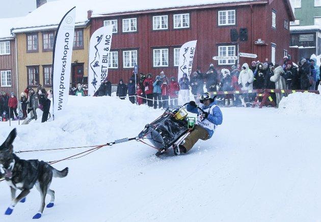Erik Rodesjø i trøbbel øvest i svingen