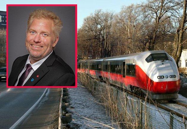 UTÅLMODIG: - Det er all grunn til å være utålmodig når det gjelder InterCityutbyggingen gjennom Østfold, mener Bjørn Tore Ødegården.