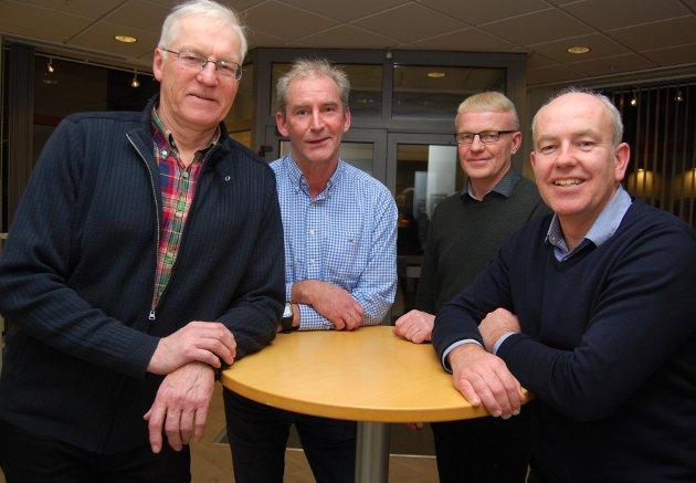 Arbeidsutvalget i Jordvernalliansen i Innlandet, fra venstre: Lars Mæhlum, Odd Erik Kokkin, Lars Arne Mjørlund og Lars Opsal jr.