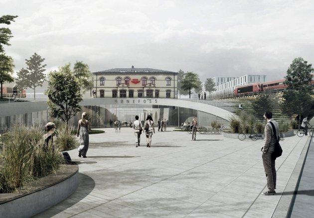 Flere av arkitektgrupperingene har ideer for hvordan stasjonsområdet best kan utnyttes. Tilgjengelighet er viktig i så måte.