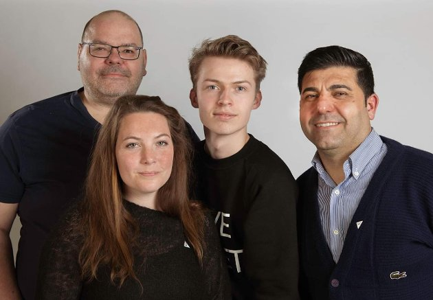 SV-TOPPER: Axel Sjøberg, Beate Førli, Erlend Kåsereff og Parviz Salimi.