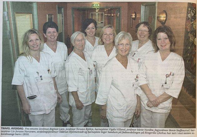 Tok i mot 849 barn på Ringerike sykehus i 2010.