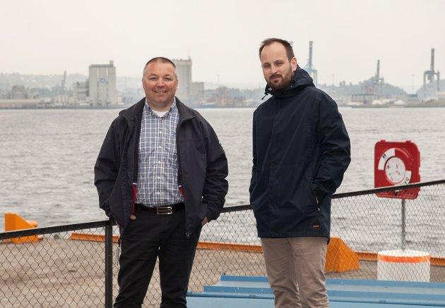 Kjell-Olav Gammelsæter, direktør i KS Bedrift Havn og Bernt Christoffer Aaby, næringspolitisk rådgiver i KS Bedrift Havn.