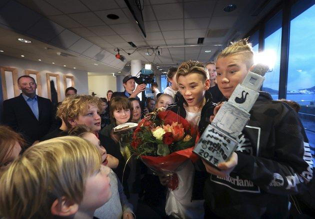 Årets Nordlanding 2017: Marcus og Martinus Gunnarsen fra Trofors ble kåret til Årets Nordlending. Det var veldig populært blant de unge.