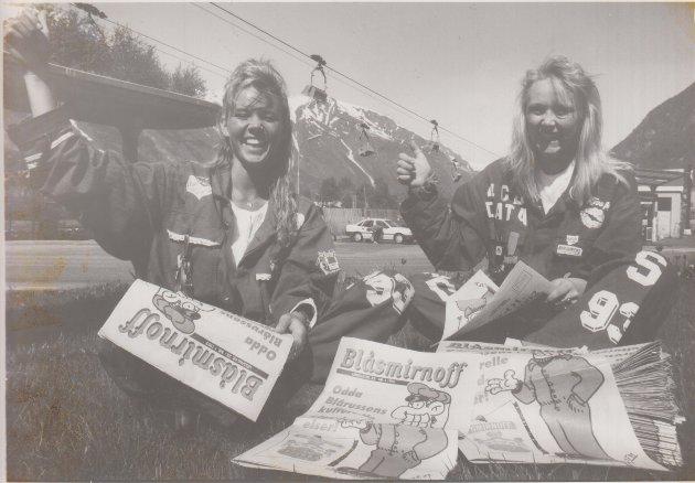 Trude Hjørnevik og randi Sævareid var blåruss i 1993.