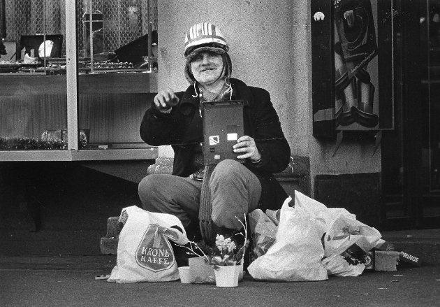 Julaften på Torgallmenningen i 1987.
