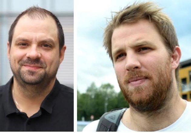 BOMMER: Mads Fredriksen (th) mener HA-journalist og håndballekspert Gunnar Paulsen bommer i sine meninger om HTHs posisjon og talentutvikling i norsk håndball.