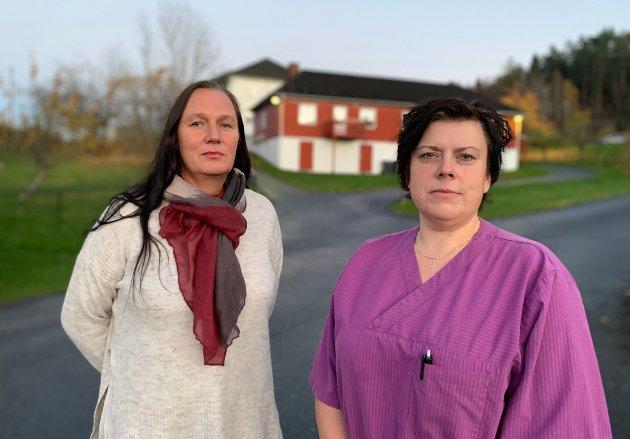 Sykepleier Liv Jensen (t.v.) og helsefagarbeider Veronica Christoffersen ved Stabbestad omsorgsboliger har skrevet dette leserinnlegget.