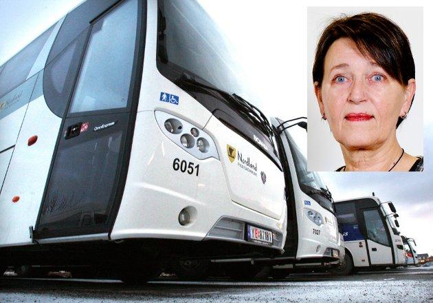 Kommer ikke bussen, så bli sint på andre enn sjåførene.