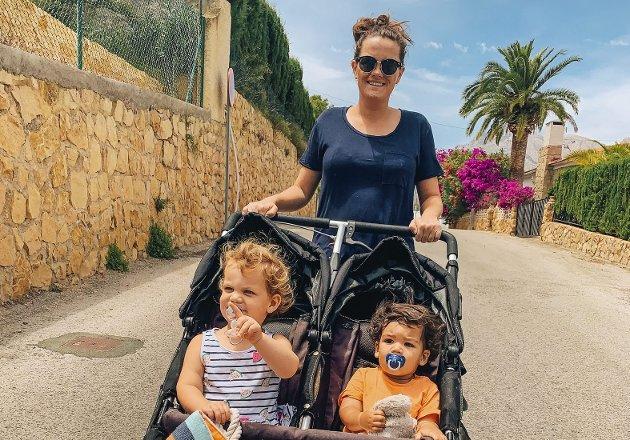 – Da jeg skulle være en uke alene med barna mine, oppdaget jeg hvilke jobb aleneforeldre der ute gjør, hver eneste dag. Dette er min hyllest til dem, skriver Stine Bustillo. Foto: Privat
