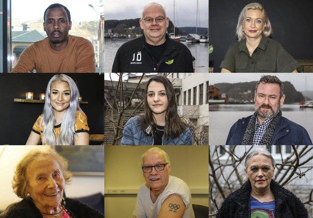 TETT PÅ LIVET: Her er ti prosent av alle haldenserne og aremarkingene som har stilt opp og fortalt om sitt liv i HAs artikkelserie 90 år 90 folk.Foto: Gunnar Paulsen