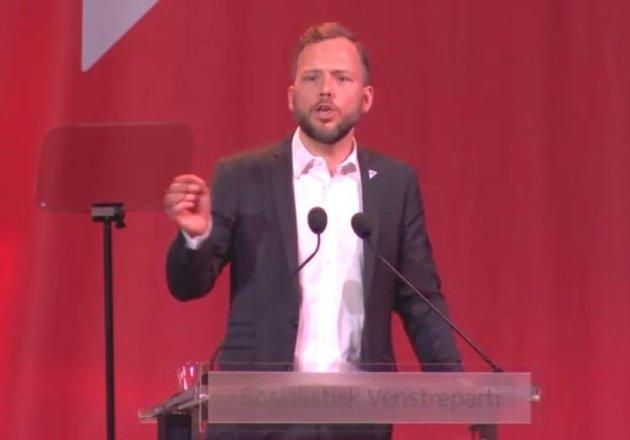Partileder Audun Lysbakken.