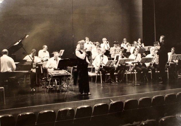 På konsert: Rakkestad Storband.