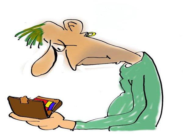 Går ut i null? – Finansministeren opplyser at endringene medfører at ni av ti får skattelettelse eller uendret skatt, skriver Finn Åsmund Johnsbråten, og legger til at staten gir med ene hånden og tar med den andre. (Arkivtegning: Jørn Grynnerup)